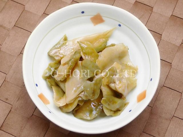 ザーサイ油炒め・皿