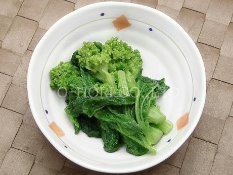 冷凍京都菜の花・皿