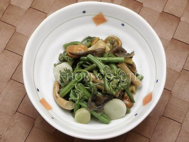 山菜風味・皿