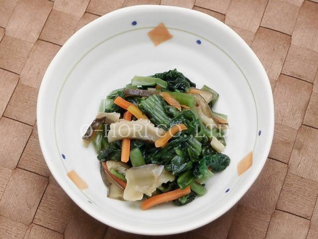 彩り小松菜・皿