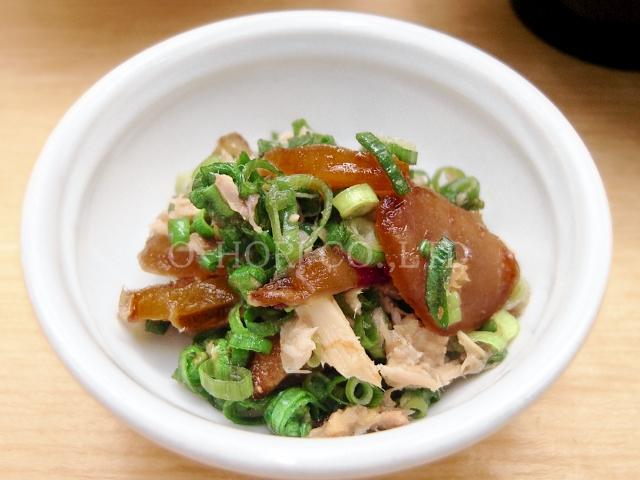 生姜の甘辛煮・調理例・ねぎツナ